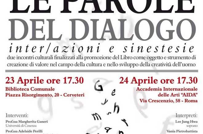 LE PAROLE DEL DIALOGO 2010: inter/azioni e sinestesie