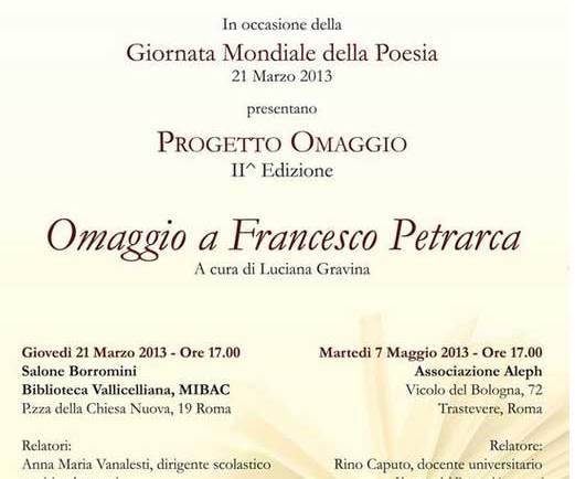 Giornata Conclusiva 2^ Edizione PROGETTO OMAGGIO Dedicato a Petrarca