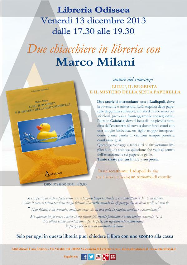 Due chiacchiere in libreria con Marco Milani