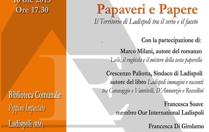 Papaveri e Papere: il Territorio di Ladispoli tra il serio e il faceto. I° incontro nuova stagione Circolo Letterario Un Tè nel Deserto