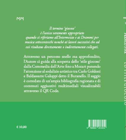LO STILE GIOCOSO dalla Commedia dell'Arte al primo Mozart - Piva - copertina posteriore